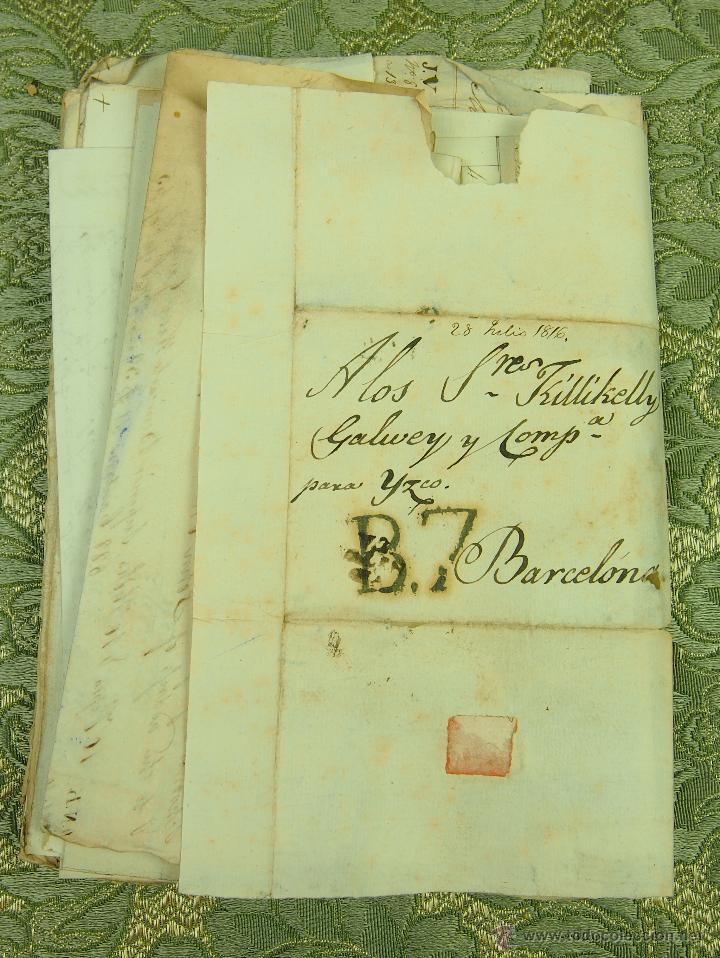 DO-048. DOCUMENTACIÓN. RECIBOS Y PAGOS DIVERSOS. FAMILIA SEGUÍ. BARCELONA CIRCA 1816. (Coleccionismo - Documentos - Manuscritos)