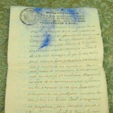 Manuscritos antiguos: DO-059. DOCUMENTO DE COMPRA DE UN ALGARROBEDO.MANUSCRITO.CAPEGROS. VINARÓS. ESPAÑA.1802.. Lote 51957859
