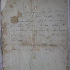 Manuscritos antiguos: DOCUMENTO NOTARIAL , REUS 1897.. Lote 54909611