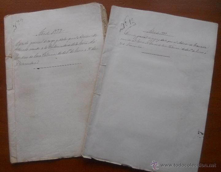GRANADA, LA ROMILLA, TORRE DE ROMA, FARGUE, CUENTAS DEL CONDE DE CASA VALENCIA, 1882, 1889 (Coleccionismo - Documentos - Manuscritos)