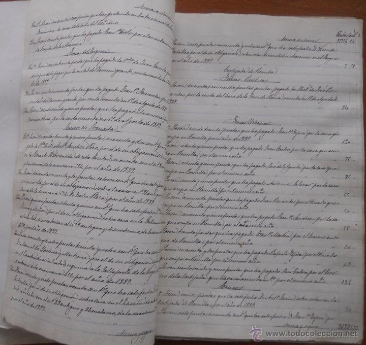 Manuscritos antiguos: Granada, La Romilla, Torre de Roma, Fargue, cuentas del Conde de Casa Valencia, 1882, 1889 - Foto 4 - 54912508