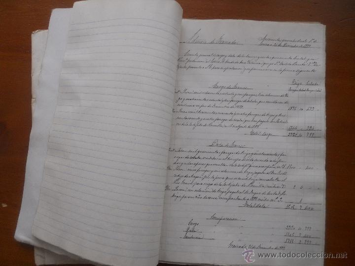 Manuscritos antiguos: Granada, La Romilla, Torre de Roma, Fargue, cuentas del Conde de Casa Valencia, 1882, 1889 - Foto 5 - 54912508