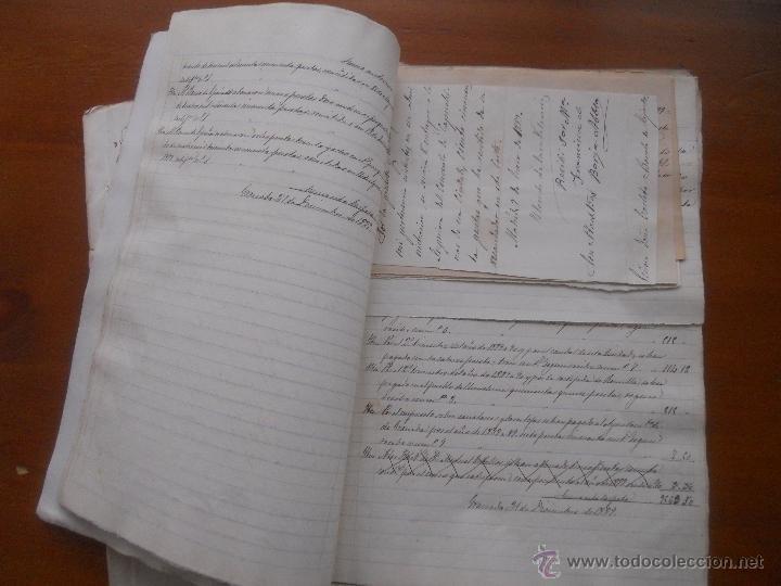 Manuscritos antiguos: Granada, La Romilla, Torre de Roma, Fargue, cuentas del Conde de Casa Valencia, 1882, 1889 - Foto 6 - 54912508
