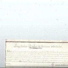 Manuscritos antiguos: 1822 - SUBASTA EN NAVA DEL REY VALLADOLID - CABUERNIGA SANTANDER - 3 MANUSCRITOS. Lote 55085313