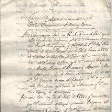 Manuscritos antiguos: MANUSCRITO - RELACIÓN DE MÉRITOS ... JUAN CRISOSTOMO DE RADA Y ROMEO (C. 1813). Lote 55326328
