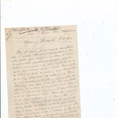 Manuscritos antiguos: 1870 - CARTA MANUSCRITA - SEGOVIA - CARLISMO - DOROTEO SOTERO. Lote 55337168