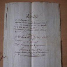 Manuscritos antiguos: DOCUMENTO MANUSCRITO, ESCRITURA DE VENTA, LLEVA SELLO TIMBRE O FISCAL, MASALFASAR, VALENCIA, 1848. Lote 55436456
