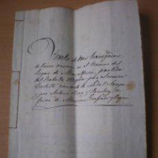 Manuscritos antiguos: ESCRITURA, DOCUMENTO MANUSCRITO, LLEVA SELLO, TIMBRE O FISCAL, MASALFASAR, VALENCIA, 1846. Lote 55445243
