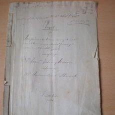 Manuscritos antiguos: ESCRITURA, DOCUMENTO MANUSCRITO, LLEVA SELLO, TIMBRE O FISCAL, MASALFASAR, VALENCIA, 1871. Lote 55445519