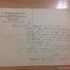 Manuscritos antiguos: DOCUMENTO ANTIGUO DONDE SE REFLEJA EL AÑO DE LA VICTORIA DE LA GUERRA CIVIL. Lote 55453216