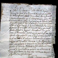 Manuscritos antiguos: 1806 - GUISSONA - MANUSCRITO - EN CATALAN - 4 PÁGINAS - GUISONA. Lote 55568559