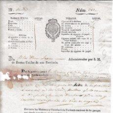 Manuscritos antiguos: 1842 SEVILLA. GUIA DE CONDUCCION TABACO. 5 LIBRAS DE CIGARROS DE LA HABANA. DE JEREZ A MERIDA. Lote 55570622