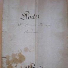 Manuscritos antiguos: ESCRITURA, DOCUMENTO MANUSCRITO, PODER, LLEVA SELLO TIMBRE O FISCAL, VALENCIA, 1873. Lote 55574282