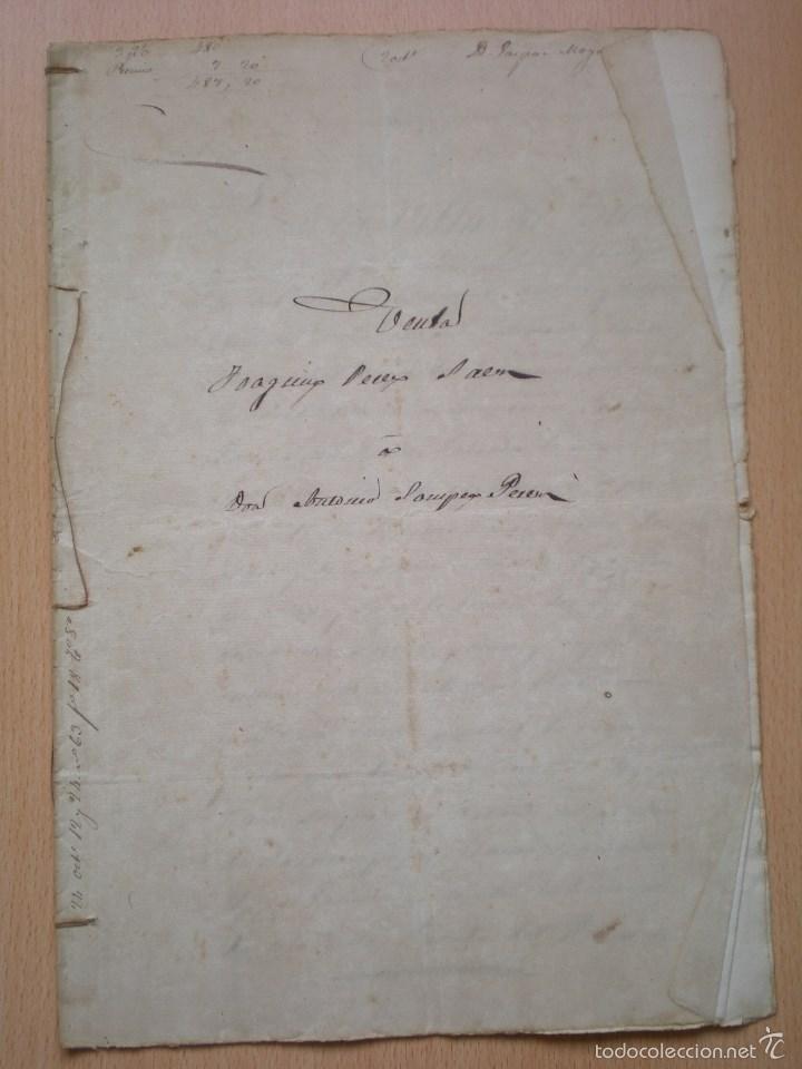 ESCRITURA, DOCUMENTO MANUSCRITO, LLEVA SELLO, TIMBRE O FISCAL, BUÑOL, VALENCIA, 1868 (Coleccionismo - Documentos - Manuscritos)