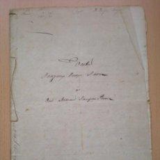 Manuscritos antiguos: ESCRITURA, DOCUMENTO MANUSCRITO, LLEVA SELLO, TIMBRE O FISCAL, BUÑOL, VALENCIA, 1868. Lote 55588765