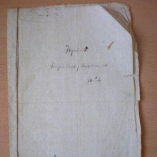 Manuscritos antiguos: ESCRITURA, DOCUMENTO MANUSCRITO, HIJUELA LLEVA SELLO TIMBRE O FISCAL, BUÑOL, VALENCIA, 1860. Lote 55689338