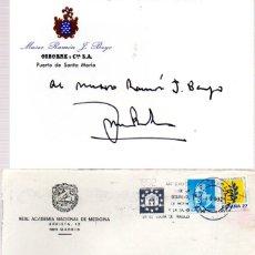 Manuscritos antiguos: SIGNED,AUTOGRAPH,FIRMA,JOSE BOTELLAS LLUSIA PRESIDENTE DE LA REAL ACADEMIA DE MEDICINA ESPAÑOLA.. Lote 55704687