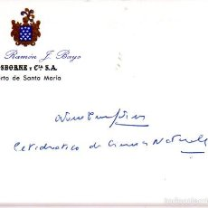 Manuscritos antiguos: SIGNED,AUTOGRAPH,FIRMA,ANTONIO TORRALBA MARTINEZ, INTELECTUAL ESPAÑOL.VER GOOGLE.. Lote 55750106