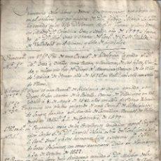 Manuscritos antiguos: INVENTARIO DE LIBROS Y DOCUMENTOS - 1799 - TADEO MARIA DE SALAMANCA - BURGOS VALLADOLID. Lote 55773589