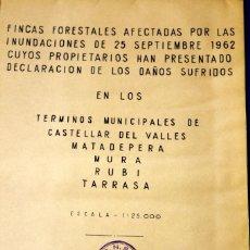 Manuscritos antiguos: LA MAYOR CATÁSTROFE HIDROLÓGICA DE LA HISTORIA DE ESPAÑA, RIADAS DEL VALLÉS, LOTE DOCUMENTOS . Lote 55878994