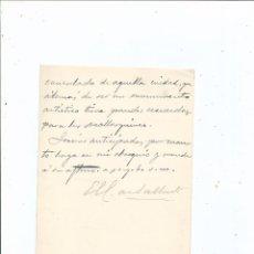 Manuscritos antiguos: 1896 - EL CONDE DE SALLENT A CÁNOVAS DEL CASTILLO - CASA CONSULADO DE PALMA DE MALLORCA. Lote 55996693