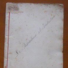 Manuscritos antiguos: DE BARCELONA AL INDOSTÁN, LIBRETO MUSICA EN CATALÁN, 48 PAGS Y CUBIERTAS, 22 X 16. Lote 55996985