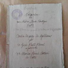 Manuscritos antiguos: VALLS - AÑO 1939 - ESCRITURA DE PAGO DE LEGITIMAS. Lote 56046194