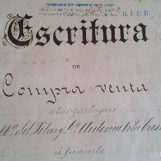 Manuscritos antiguos: ESCRITURA DE COMPRAVENTA MANUSCRITA - 1909. Lote 56153952