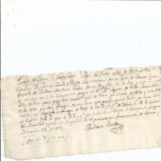 Manuscritos antiguos: 1821 - BUEZO BURGOS - FIRMA ALCALDE JULIAN CONDE - RECIBO - TRIGO CEBADA. Lote 56164983