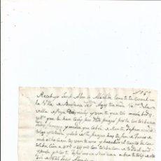 Manuscritos antiguos: 1825 - BARANDA BURGOS - FIRMA ALCALDE JOSEF ALONSO - RECIBO - TRIGO CEBADA. Lote 56165098