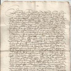 Manuscritos antiguos: 1527 - POZA DE LA SAL BURGOS - VENTA LINAR - LINO - DIEGO GARCÍA DEL AMO - SEBASTIÁN IBAÑEZ. Lote 120415606
