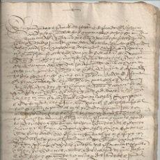 Manuscritos antiguos: 1523 - REDECILLA BURGOS - VENTA DE UNA HACIENDA - DIEGO GARCÍA DEL AMO - MIGUEL Y MARIA DE HOZ. Lote 56165740