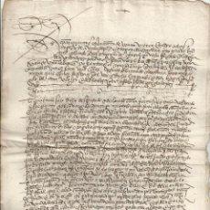 Manuscritos antiguos: 1531 - POZA DE LA SAL BURGOS - VENTA DE UN OBRERO DE VIÑA POR ALONSO LOPEZ A DIEGO GARCÍA DEL AMO. Lote 56175024