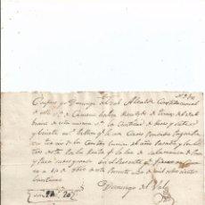 Manuscritos antiguos: 1821 - CAMENO BURGOS - FIRMA ALCALDE DOMINGO DEL VAL - RECIBO CONTRIBUCIÓN. Lote 56184021