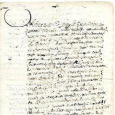 Manuscritos antiguos: DOCUMENTO NOTARIAL MANUSCRITO EN LATÍN. VERGES, VULPELLACH (CERCA DE LA BISBAL), EMPORDÀ. Lote 56189625