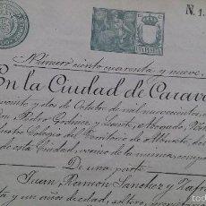 Manuscritos antiguos: ESCRITURA DOCUMENTO MANUSCRITO CARAVACA MURCIA 1900. Lote 56214729