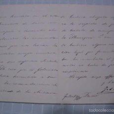 Manuscritos antiguos: CARTA MANUSCRITA DE JOAQUÍN SÁNCHEZ DE TOCA, COMO SUBSECRETARIO DE GOBERNACIÓN - JULIO 1891. Lote 56216318