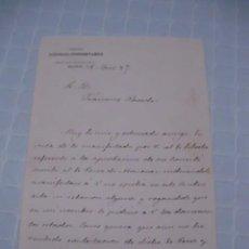Manuscritos antiguos: CARTA MANUSCRITA DE FRANCISCO DE BORJA QUEIPO DE LLANO, CONDE TORENO, 1887. Lote 56216496