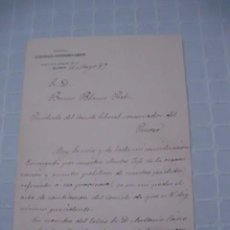 Manuscritos antiguos: CARTA MANUSCRITA DE FRANCISCO DE BORJA QUEIPO DE LLANO, CONDE TORENO, A BRUNO BLANES, DE 1887. Lote 56242988