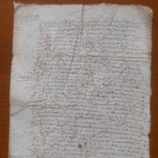 Manuscritos antiguos: TESTIMONIO DE PROVISIÓN DEL COMENDADOR DE MONTEMOLÍN PARA HACER UNA ALMONEDA DE BIENES, 1612. Lote 56504509
