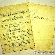 Manuscritos antiguos: LOTE DE DOCUMENTOS DE FUENTE ÁLAMO (MURCIA). AÑOS 1876-1877. NOTARÍA. SELLOS ALFONSO XII EN SECO. Lote 56533473