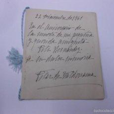 Alte Manuskripte - POEMAS MANUSCRITOS DE PILAR DE VALDERRAMA (GUIOMAR, AMOR DE ANTONIO MACHADO), FECHADOS 22 DIC. 1941 - 56686964