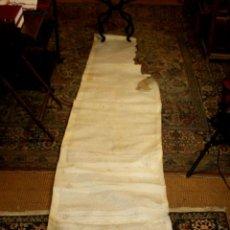 Manuscritos antiguos: EXCEPCIONAL PERGAMINO MANUSCRITO. 434X60 CM. SANT CUGAT. BARCELONA. CIRCA 1620. Lote 56736297