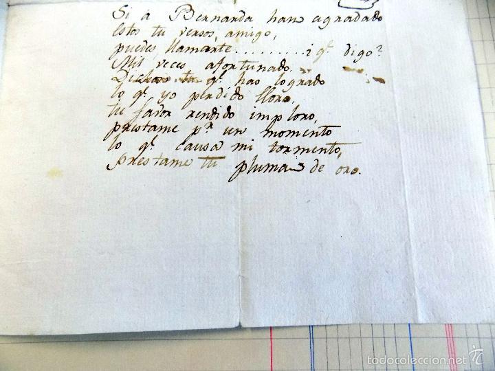 Manuscritos antiguos: poesia , oda, manuscrita original, dedicada a la condesa de superunda, siglo xviii. inedita - Foto 2 - 56786116