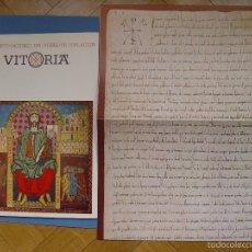Manuscritos antiguos: FACSÍMIL (FUERO DE VITORIA) FOURNIER, 1980. COLECCIONISTA.. Lote 57026189