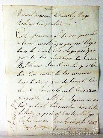DOCUMENTO MANUSCRITO TASANDO UNA CASA EN SUECA, VALENCIA (1843) ESCRITO A TINTA SOBRE PAPEL DE HILO (Coleccionismo - Documentos - Manuscritos)