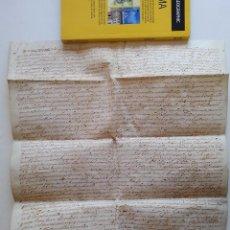 Manuscritos antiguos: AÑO 1593 * MALLORCA * ESTABLIMENT DE 8 CUARTERADAS * PORRERES LLUCMAJOR * PERGAMINO MANUSCRITO 40 CM. Lote 87183512