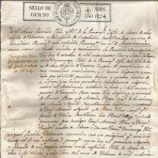 Manuscritos antiguos: DOCUMENTO MANUSCRITO, CERTIFICADO DE MATRIMONIO – MORA D'EBRE, OBISPADO DE TORTOSA - 1824. Lote 57123872