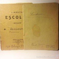 Manuscritos antiguos: MANUSCRITOS: 2 CUADERNOS ESCOLARES CONTENIENDO POESIAS Y CANCIONES MANUSCRITAS. AÑOS 1914 Y 1930-40. Lote 57237613