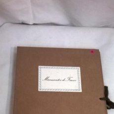 Manuscritos antiguos: MANUSCRITOS FRANCO. Lote 57251231